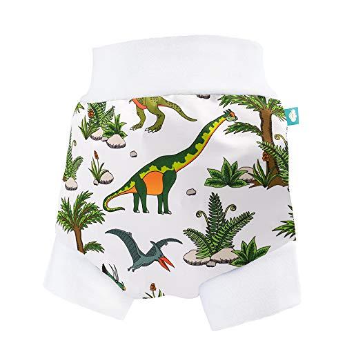 Little Clouds - Sur-pantalon V2 (pantalon à enfiler) – Dino World Taille L (9-13 kg) – Sur-couche imperméable pour la nuit, pantalon de couche, culotte.