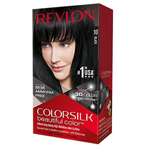 Revlon Colorsilk Permanent Haircolor, 10 Black 1 ea (Pack of 4)