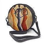 BAODANLA Bolso redondo mujer Round Crossbody Bag Three Fashionable African Women Handbag Purse Single Shoulder Bag Sling Bag