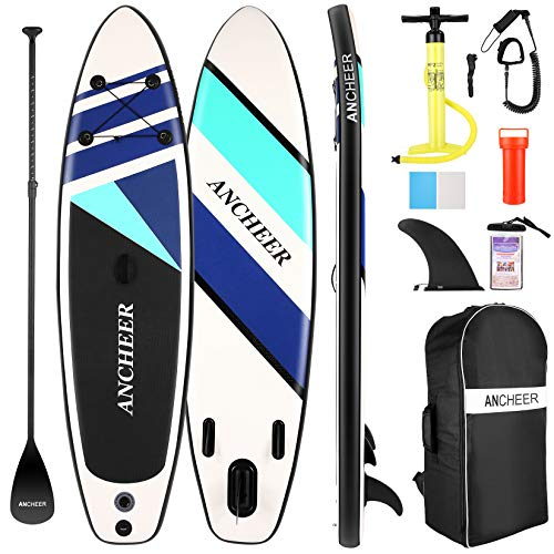Aufblasbares Stand-Up-Paddle-Board, Allround-SUP-Board mit Premium-SUP-Zubehör, einschließlich...