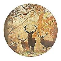 森中の鹿 冷蔵庫マグネット 磁気飾り物 磁気黒板用 強力マグネット丸型 多機能 おもしろい 冷蔵庫用 磁気掲示板用 おしゃれ 吸着式