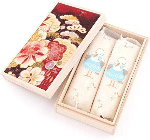 出産内祝い 内祝い 米 お返し 名入れ 桐箱入り ハグ米 二合(300g)X2袋 600g 祝花