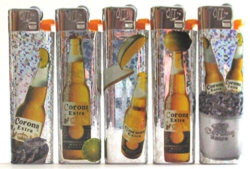 VEEL van 5 Corona Bier Wegwerp LICHTERS Volledige Set Nieuwe