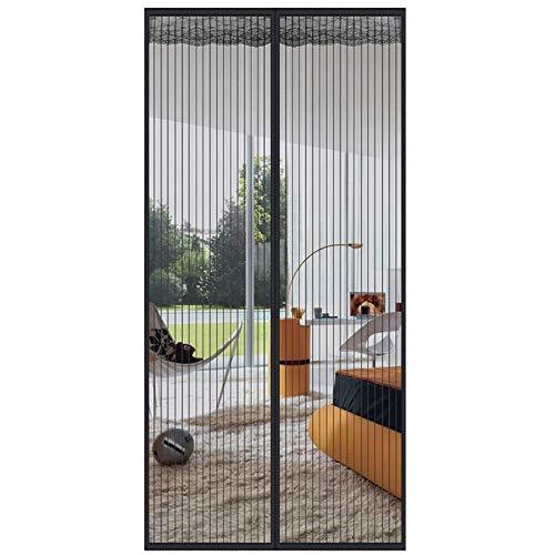 Mosquitera Magnética para Puertas Cortina para Puerta para Protección contra Insectos, Mosquitos, Moscas Mosquitera para Ventanas(110x205cm(43x81inch), Black)