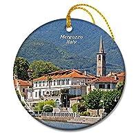 イタリアメルゴッツォ湖クリスマスオーナメントセラミックシート旅行お土産ギフト
