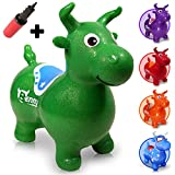 WALIKI Bouncy Horse Hopper | Benny The Jumping Bull Inflatable Hopping Pony for Toddlers | Green