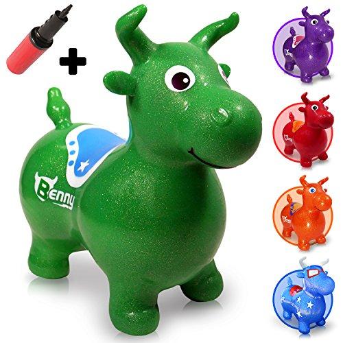 WALIKI Bouncy Horse | Inflatable Hopping Animal | Toddler Riding Horse | Hoppy Horse Hopper | Green