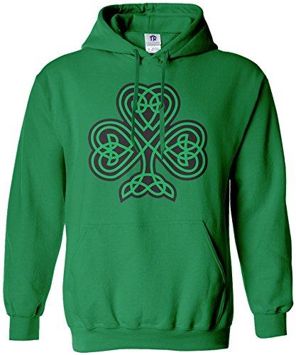 Threadrock Women's Celtic Shamrock Hoodie Sweatshirt S Kelly Green