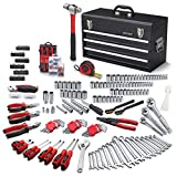 ARUCMIN 438-Piece Mechanics Tool Set with 3-Drawer Heavy Duty Metal Box Repair Tool Kit