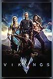Póster de la serie de televisión de Vikings (2013) 30 x 45 cm (multicolor) U-4048