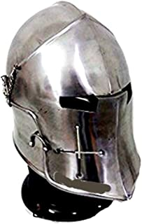 Armor Barbuta Helmet Halloween Costume with Free Stand