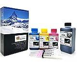 Office Channel24 Nachfülltinte 550ml für Druckerpatronen HP 302 XL HP Deskjet 1110 2130 3630 HP Envy 4520 4524 4525 refillset Drucker Tinte