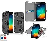Funda Carcasa Xiaomi Mi4C Weed Hierba Collection Pattern de almacenamiento innovadoras con tarjeta de la puerta interna - Estuche protector de Xiaomi Mi4C con fijación adhesiva reposicionable 3M