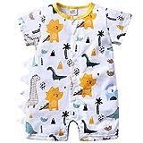 Eastery - Mono de manga corta para bebé con estampado de dinosaurios y pijamas de algodón estilo simple a 12 meses