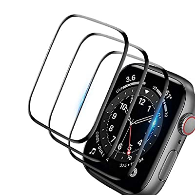 [3 Pack]Screen Protector for Apple Watch Series 38mm, 3D Curved Edge Anti-Scratch Bubble Free HD Ultra Shatterproof Flexible Protector Film Compatible with Apple iWatch Series 3/2/1 (38mm)