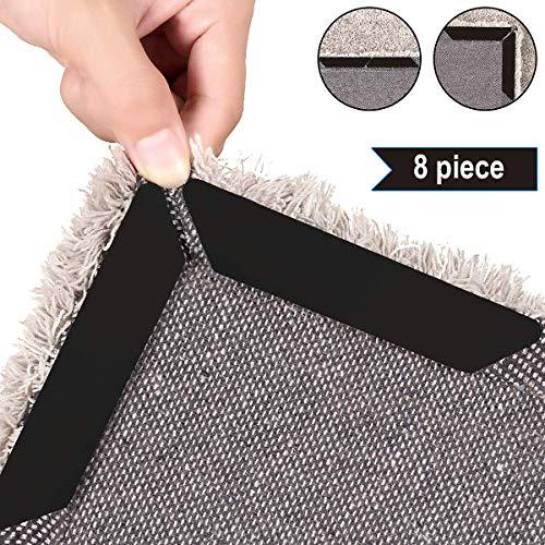 Antirutschmatte für Teppich, 8 Stück Anti Rutsch Teppichunterlage,Wiederverwendbar Teppichgreifer mit Funktioniert perfekt für drinnen und draußen, für Schlafzimmer, Treppen, Badezimmer, Wohnzimmer.