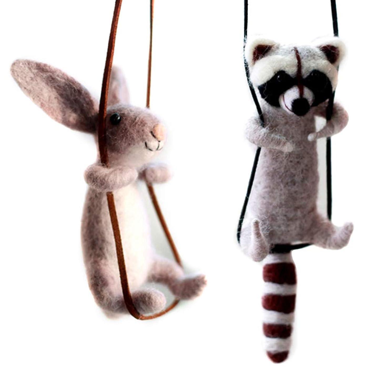 Artec360 Raccoon and Rabbit Needle Felting Kits 4