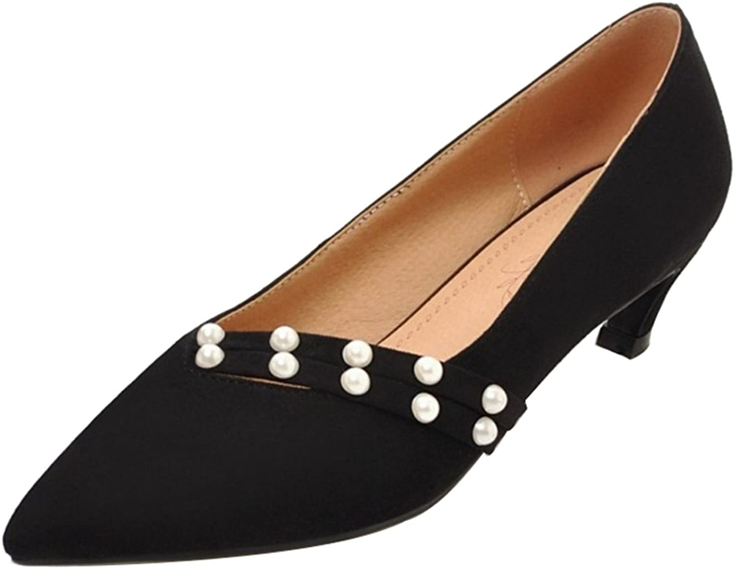 CuteFlats Pumps with Kitten Heel and Pointed Toe for Fashion Women