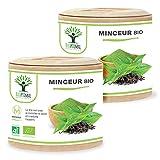 Minceur Bio - Bioptimal - Complément alimentaire - Thé vert Guarana + Plantes pour Maigrir - 4 Actions - Perte de...
