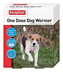 Beaphar One Dose Wormer is a safe and effective wormer for the routine control of common roundworms and tapeworms found in pet dogs This pack contains 2 tablets and treats a dog weighing up to 20kg Beaphar One Dose Wormer for Medium Dogs is a UK auth...