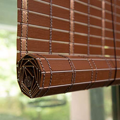 Bambusrollo Innen- / Außenrollläden Fenstervorhänge, Patio/Pavillon/Pergola/Carport Roll-Up-Sonnenschutz, 90 cm / 100 cm / 120 cm / 150 cm Breit (Color : Redwood, Size : 35