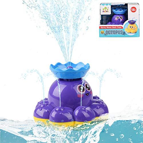 Ulikey Kinder Badezimmer Spielzeug, Wasserspielzeug, Baby Badespielzeug, Schwimmendes Badewanne Spielzeug, Wasser Baby Badespielzeug, Spray Wasser Krake für Baby, Kleinkinder, Kinder (Lila)