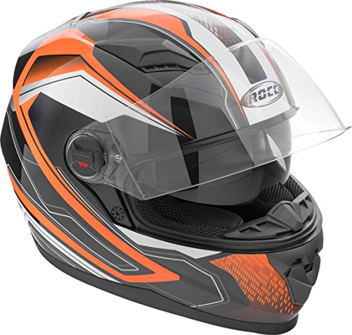 Rocc 321 Integralhelm M Schwarz/Orange/Weiß