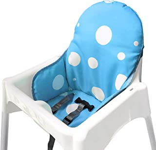 IKEA Antilop Highchair Seat Covers & Cushion by Zama, Washable Foldable Baby Highchair Cover IKEA Childs Chair Cushion (Blue)