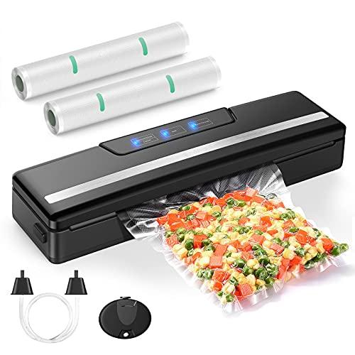 Vakuumiergerät für Lebensmittelretter, 70kpa steuerbares Vakuum, kompakte Vakuumverpackungsmaschine mit 2 Rollen Vakuumbeutel