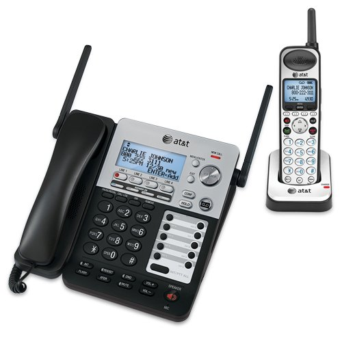 AT&T SB67138 Analog/DECT Negro, Plata - Teléfono (Analog/DECT Telephone, 100 entradas, Negro, Plata)
