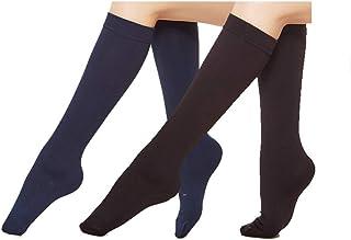 Eabern 6 Pairs Women's Opaque Plush Fleece Lined Trouser Socks Knee High Stocking
