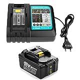 Energup BL1840 18V 4,0Ah Batterie de Remplacement + 1.5A 7.2V~18V Chargeur pour Makita BL1815 BL1830 BL1840 BL1850 LXT400 DC18RA DC18RC