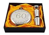 Happy 60th Birthday Flask Gift Set