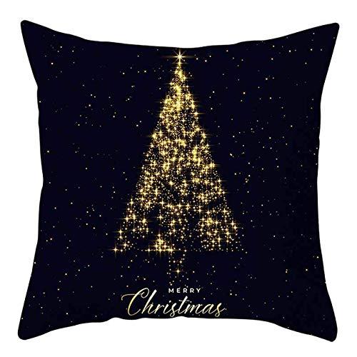 phjyjyeu Fundas de almohada decorativas de Navidad, 45,7 x 45,7 cm, funda de cojín de lino para sofá, coche, Navidad, invierno, otoño, decoración del hogar, 40,6 x 40,6 cm