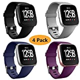 Best Fitbit Replacement Bands - Neitooh 4 Packs Bands Compatible with Fitbit Versa/Versa Review
