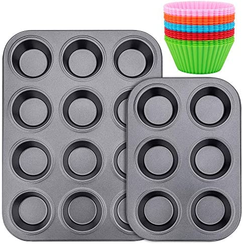Muffin Pan Standard 12 6 Cup Cupcake Tin Non Stick Bake Ware Bar Baking Pan and Jumbo Muffin product image