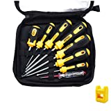 Professional Screwdriver Set,8 Pieces Phillips and Slotted Magnetic Screwdriver,Craftsman Toolkit,Big and Micro-Fine Grip, NON-Slip,Rust Resistant,Magnetic Design