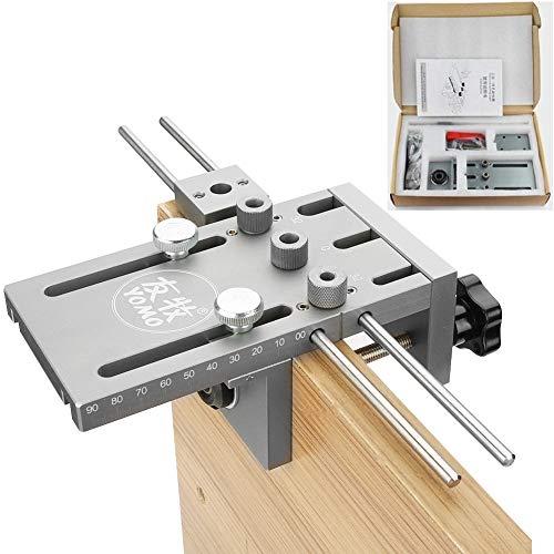 (3 en 1) Kit de localizador de guía de taladro de plantilla para tacos, autocentrado para carpintería de 6/8/10/15 mm