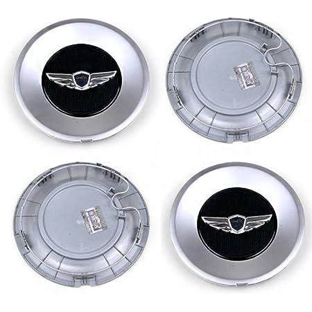 HYUNDAI OEM Genuine Genesis Wing 18inch Wheel Center Caps 529603m100 V6 3.8 Sedan Wheel Caps (Set of 4) with One Ganda Anti Electromagnetic Radiation Sticker