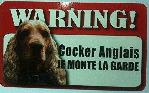 Plaque Je Monte La Garde Cocker Anglais