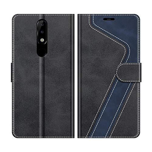 MOBESV Custodia Nokia 5.1 Plus, Cover a Libro Nokia 5.1 Plus, Custodia in Pelle Nokia 5.1 Plus Magnetica Cover per Nokia 5.1 Plus, Elegante Nero