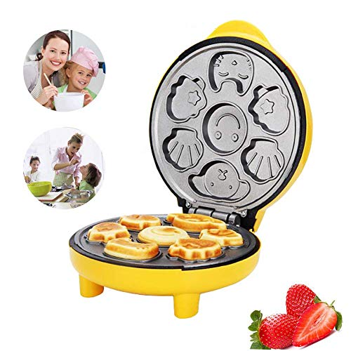 Mini Electric Cake Machine Waffle Maker,Double Sided Heating,Non Slip,Bottom Mesh Cooling Design,for Cakes,Waffles and Other Breakfast,Lunch and Snacks 24.5 x 20.5 x 11.5CM