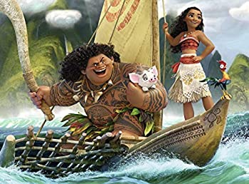 500 Piece Jigsaw Puzzle Adult and Kids - Disney Moana - Can Be Used for Family Living Room Bedroom Background Wall Decor