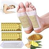 SaturFun Detox Almohadillas para pies (100PCS),Parches detox pies de jengibre para un mejor sueño y alivio del estrés,Parches desintoxicantes natural para el cuidado de pies
