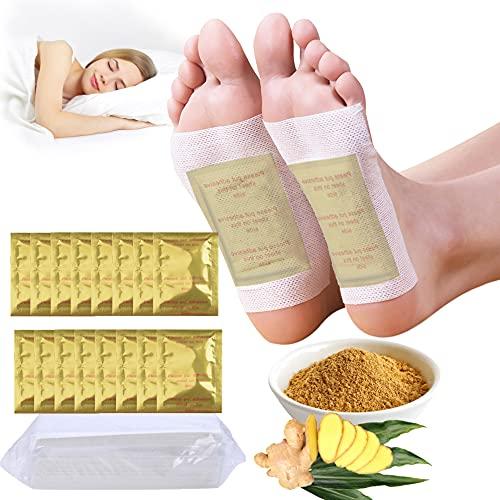 SaturFun Detox Ingwer Pflaster | Detox Foot Patch | 100 Stück Natürliche Deep Cleansing Foot Pads Fördern die Durchblutung, Lindern Schmerzen und Verbessern den Schlaf Fußpflege Vital Pflaster