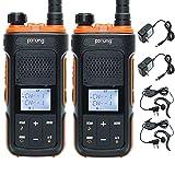 BAOFENG Pofung P11UV 99 Channels GMRS Two Way Radio Long Range Walkie Talkie VOX Scan Flashlight NOAA Weather Alert (2 Pack)