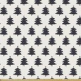 ABAKUHAUS Weihnachten Stoff als Meterware, Tannenbaum
