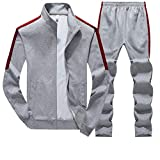 LGHOVRS Costume Homme Nouvelle Mode Casual Sweat Slim Fit SurvêTement Sport...