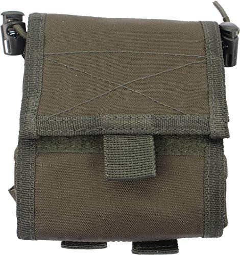 Empty shell pouch collaps. olive