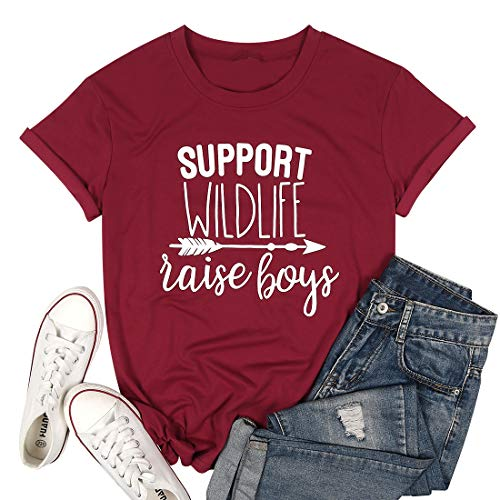 """(50% OFF) """"Support Wildlife Raise Boys"""" T-Shirt $6.99 – Coupon Code"""